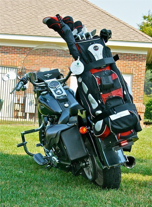 2 x 2 Cycles Golf Bag Carrier, rear view