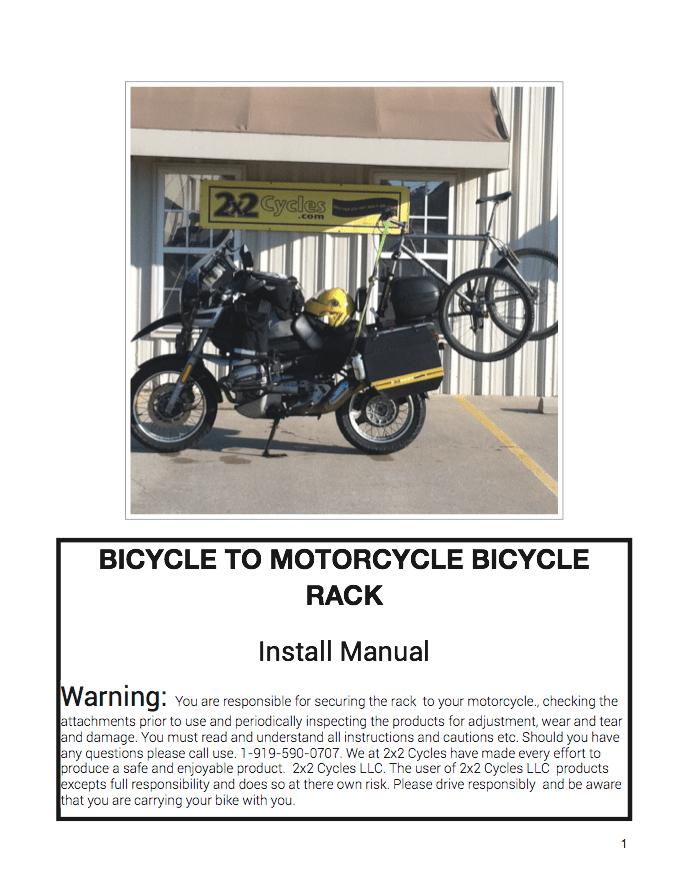 Bike Install Manual