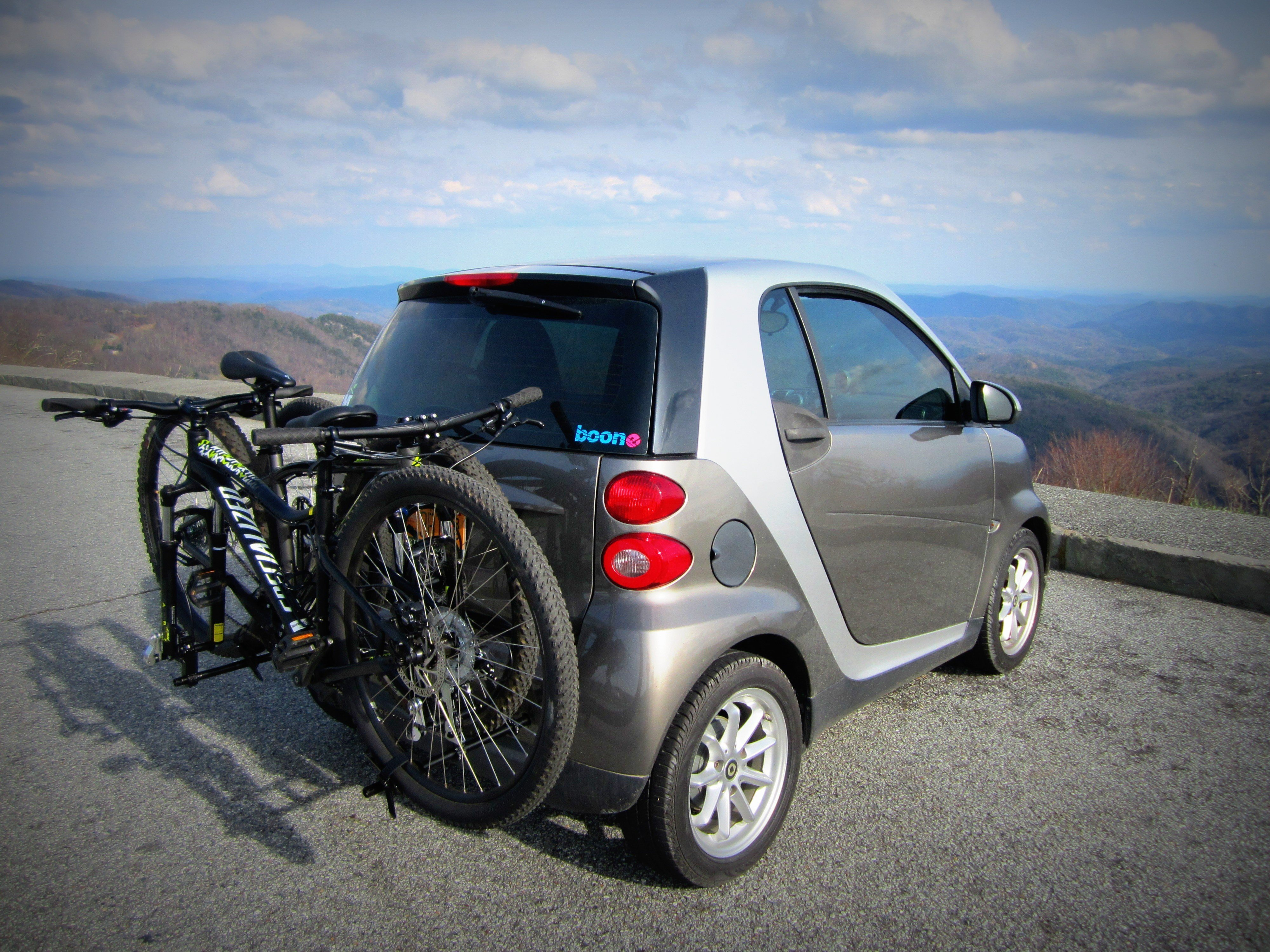 The Smart Car Bicycle Rack